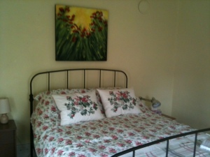 The master bedroom in the Manse: a quiet, perfect place for an afternoon nap.