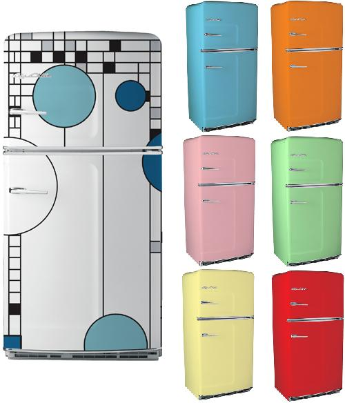Lets talk about beautiful refrigerators retro style for Kühl gefrierkombination retro look