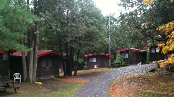 Cabins at the former Schneider School of Fine Arts