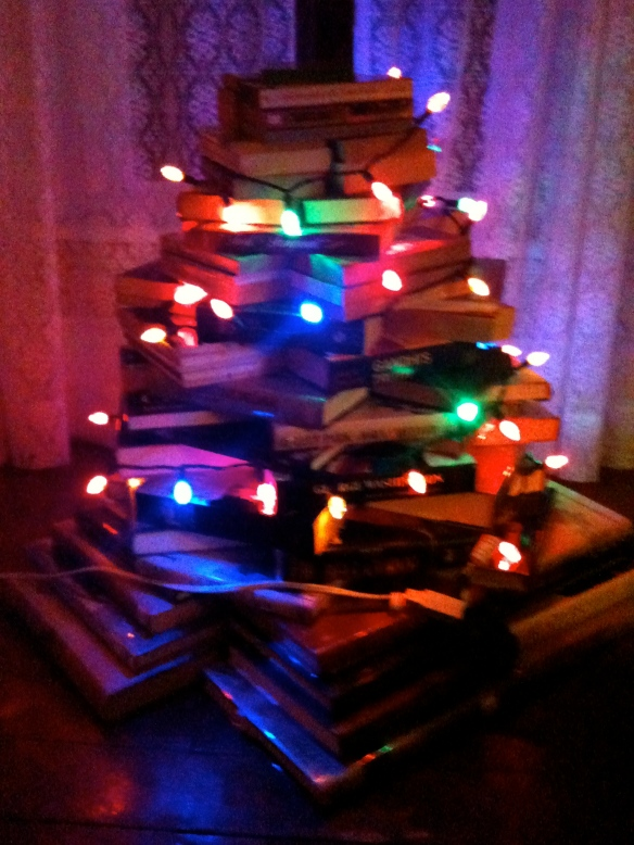 The Tree of Books in the Manse's study.