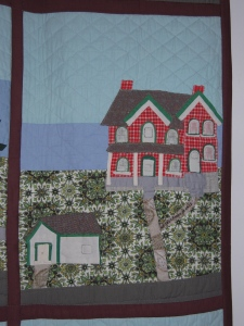 The Manse as depicted on Goldie Holmes's quilt.