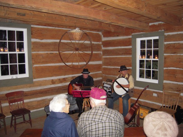 The Whystle Dawgs, Bob Leonard and Jim Fowler, performed songs and told interesting stories about them. For instance, did you know that the venerable CC Rider, performed by everybody under the sun, was originally a song about a circuit-riding minister? Neither did we.