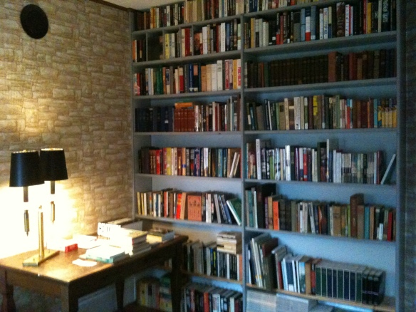 When this room was my father's study, the built-in bookshelves were full of books. And now they are again.
