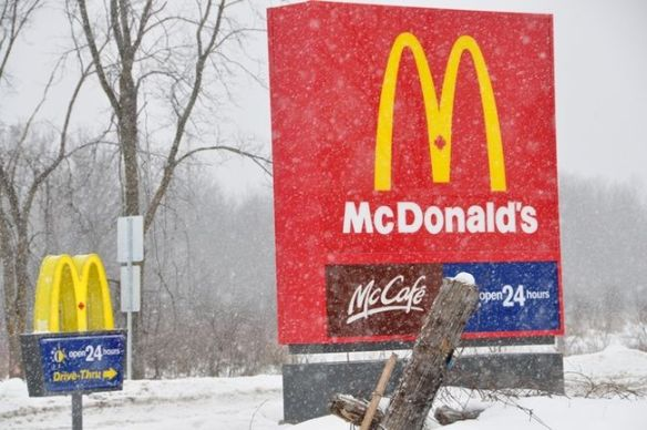 McDonald's is open for business in Madoc, and it was big news in the local newspapers. This photo is from the Belleville Intelligencer, and you can read reporter Mark Hoult's report on the new business here.