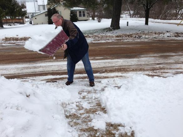 Raymond shovelling
