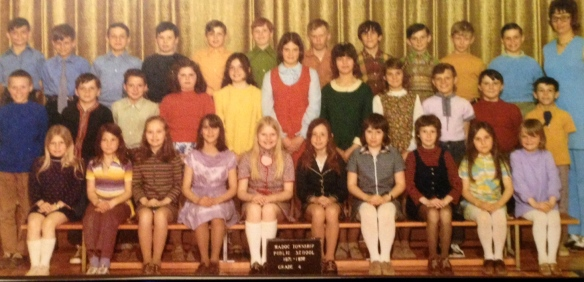 A class photo from Madoc Township Public School, back in the day. The teacher is Jan (Janice) Bruce, and my sister, Melanie, had about the most exostic name in the class.