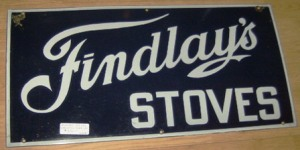 Nostalgia for our old stove led me to find this old sign at the site of Aubrey's Antiques  in Ottawa, which has instantly become one of my favourites places. (Photo from aubreysantiques.com)