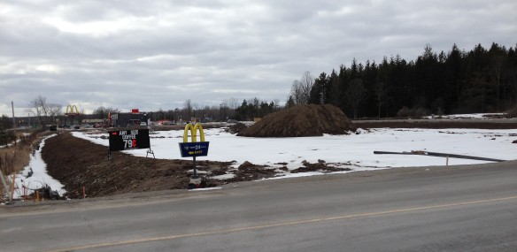 A prime piece of property, right on Highway 7, beside the new McDonald's: I know just what to do with it.