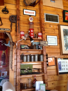The rustic and cozy interior of Kelly's is filled wirh vinatge advertising signs and whatnot. Yoo have to love the Supertest memorabilia; remember Supertest?