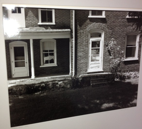 A snapshot my brother John took of a great photograph that he is lucky enough to own, a picture by well-known Canadian photographer Simeon Posen of: the Manse!