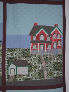 The Manse as folk art: a detail from Goldie's quilt.