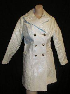 wet-look coat