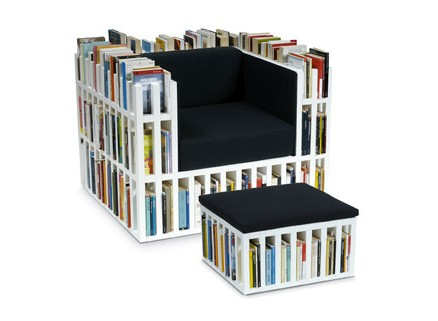 Bibliochaise and hassock