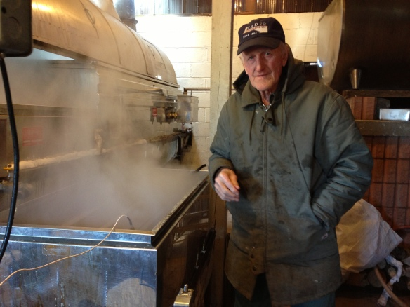 Cyril Shaw at work at the boiling-house. I took this just last weekend, and had a wonderful time catching up and reminiscing with Cyril and his wife, Isabella. my father spent many happy hours working with Cyril.