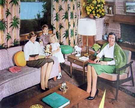 Green Stamps living room