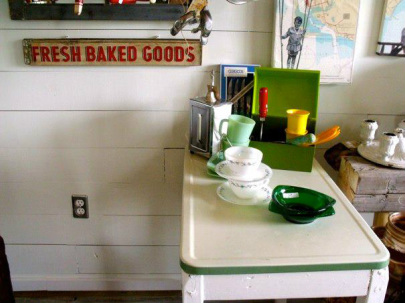 I am aching to have that ceramic-topped kitchen table from Revival Store – a new discovery in the north end of Hastings County. Please don't get to it before I do!