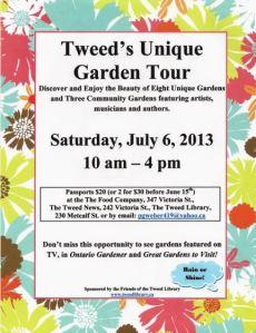Tweed Garden Tour poster