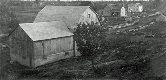 The Kleinsteuber family homestead and farm at the German Settlement in about 1910. The question descendant Keith Millard (who lives way out in Vancouver Island) has is: does any of it still stand? If not, how amazing to think a good stury farm like this could just disappear within a century. (Photo courtesy of Keith Millard)