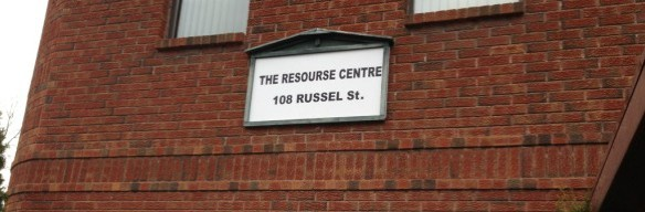 Badly spelled sign on the Madoc Resource Centre