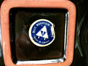 Blue Mountain pottery label