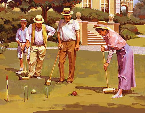 vintage croquet game