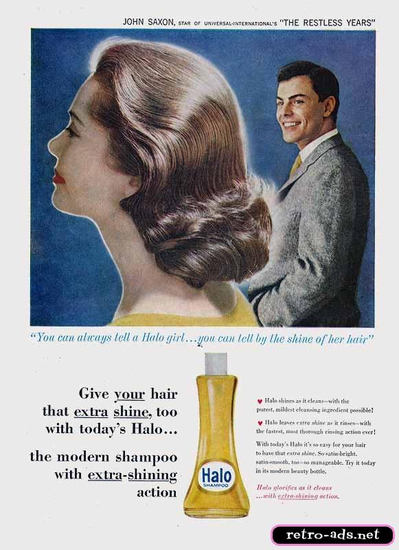 vintage Halo shampoo ad