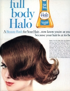 vintage ad for Halo shampoo