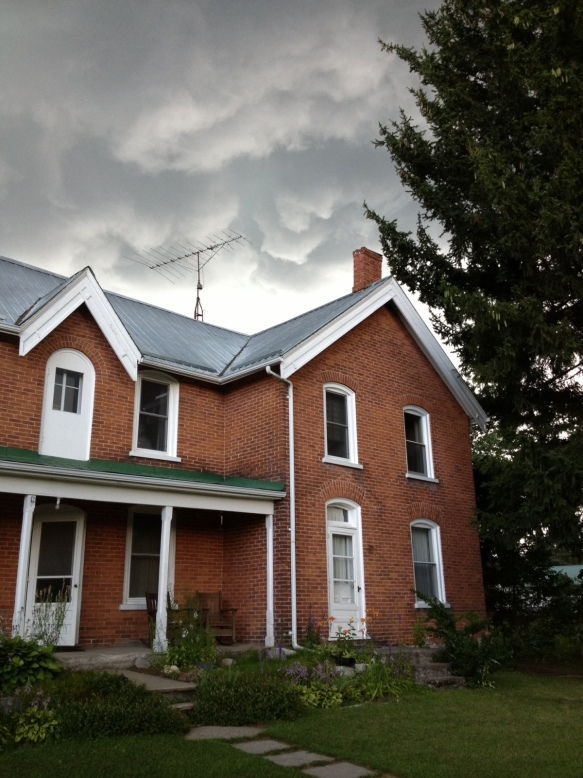 storm clouds over the Manse