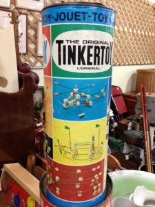 Vintage Tinkertoys tin
