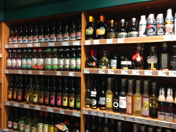 vinegar section at the 5 Saisons in Outremont