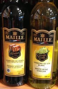 white-wine and sherry vinegar