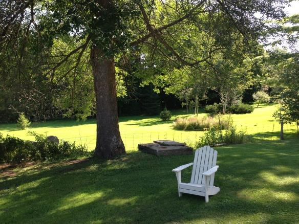 Adirondack chair at the Manse