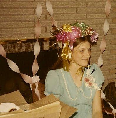Judy's bridal-shower bow bonnet