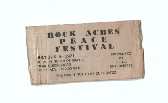 Rock Acres Peace Festival ticket