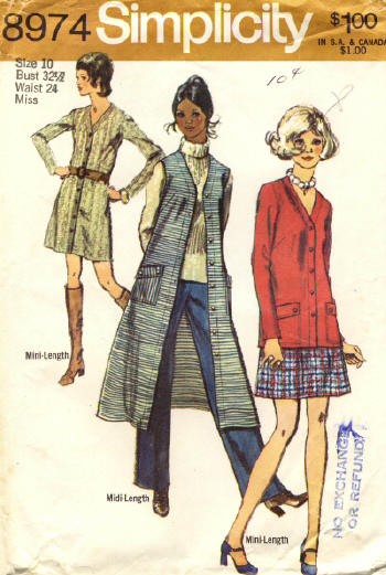 1970s Simplicity sewing pattern