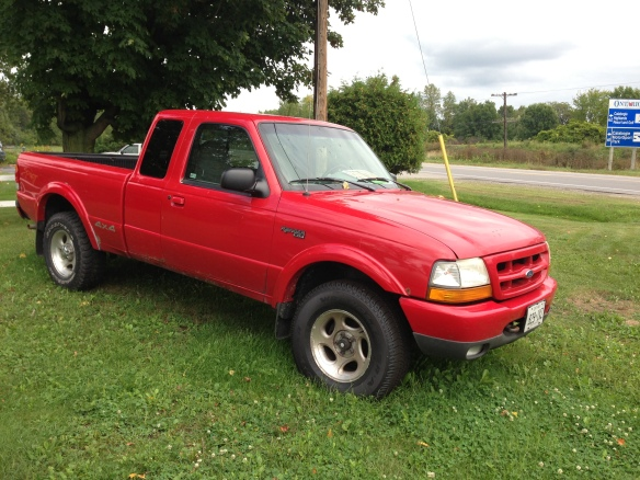another red Ford Ranger