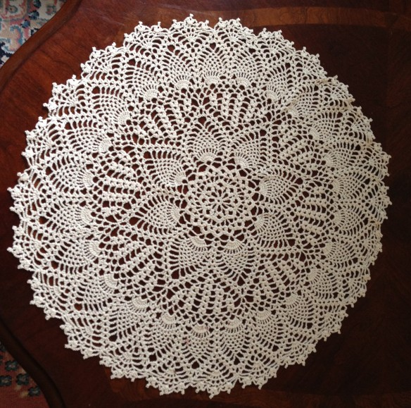 this is a doily, not an antimacassar