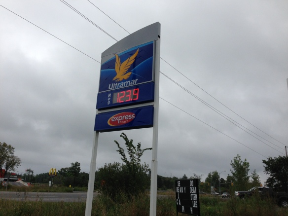 gas price in Madoc