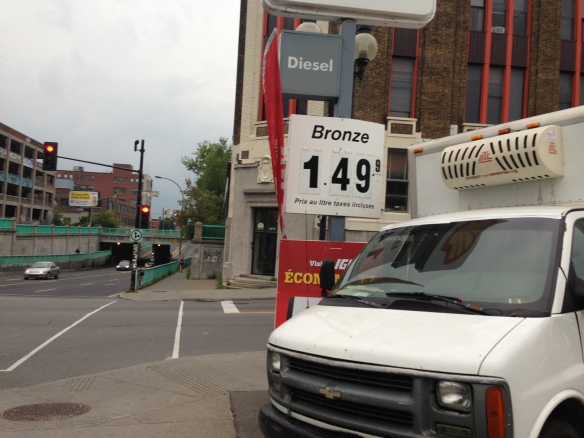 gas price in Montreal
