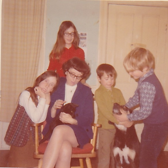 Lorna Sedgwick and her kids, Queensborough, c. 1971