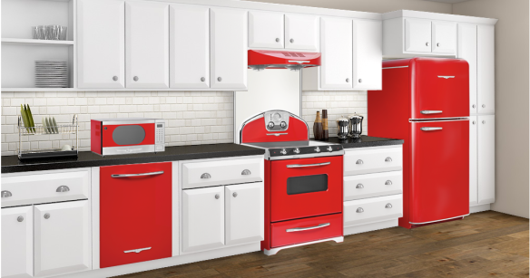red kitchen with Northstar appliances