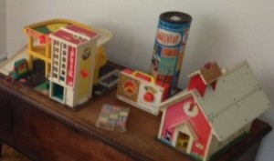Fisher-Price toys and Tinkertoys