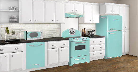 turquoise kitchen with Northstar appliances