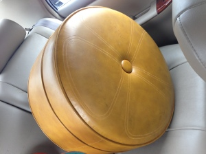 vintage gold hassock