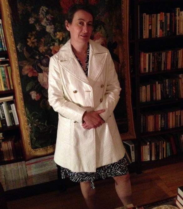 vintage wet-look coat