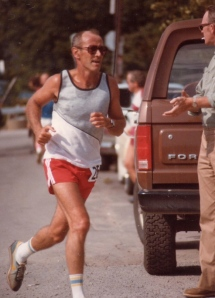 Art Gough running a marathon