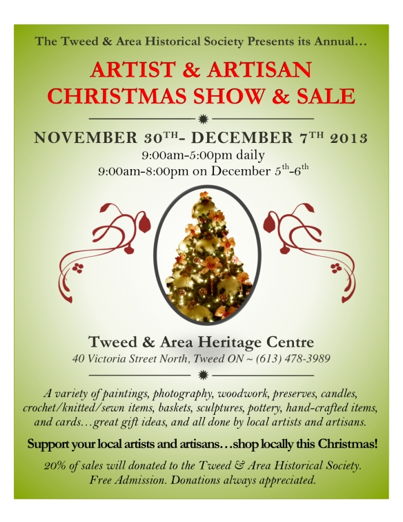 Heritage centre Christmas Sale Poster