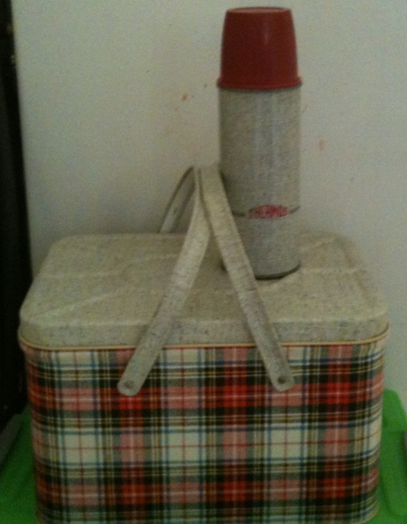 picnic hamper and thermos