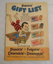 Popsicle gift list