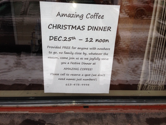 Christmas dinner at Amazing Coffee